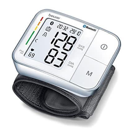 Beurer BC 57 Tensiómetro de Muñeca, Blanco, Función Bluetooth, Medición Automática, Aplicación