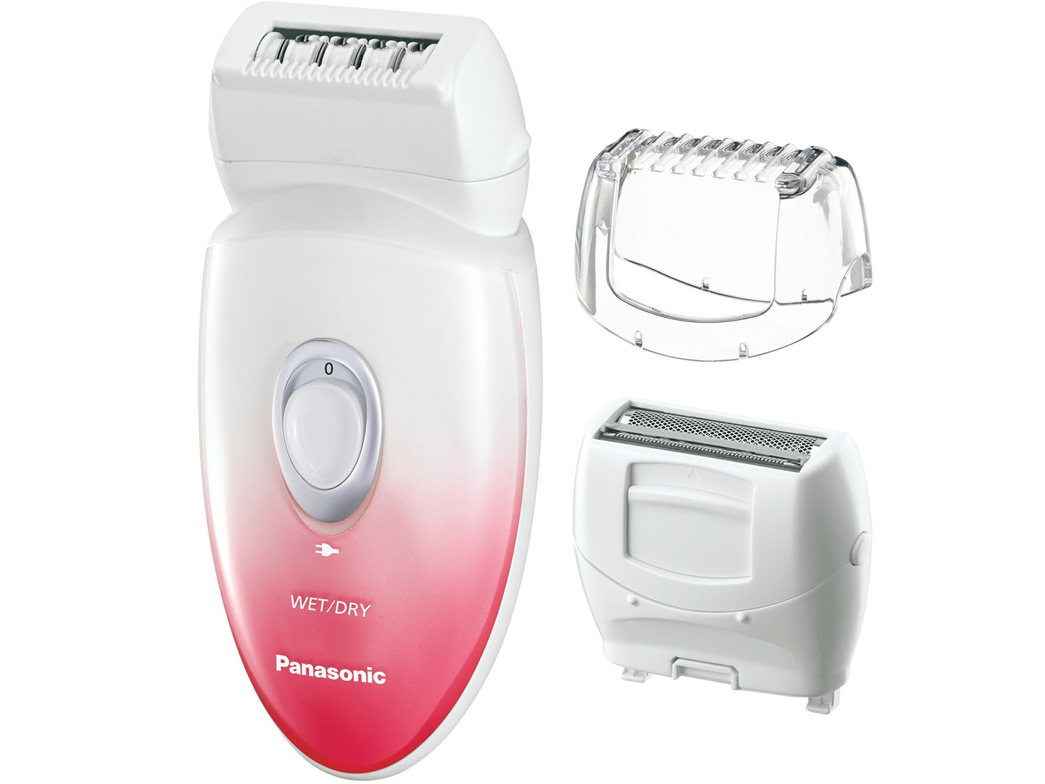 Panasonic ES-EU20-P Multi-Functional Wet/Dry Shaver and Epilator with Three Attachments and Travel Pouch