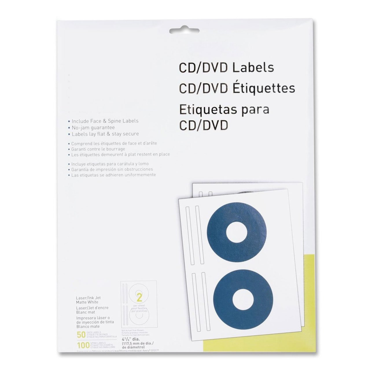 Amazon.com : MyOfficeInnovations 3254514 CD/DVD Labels Laser ...
