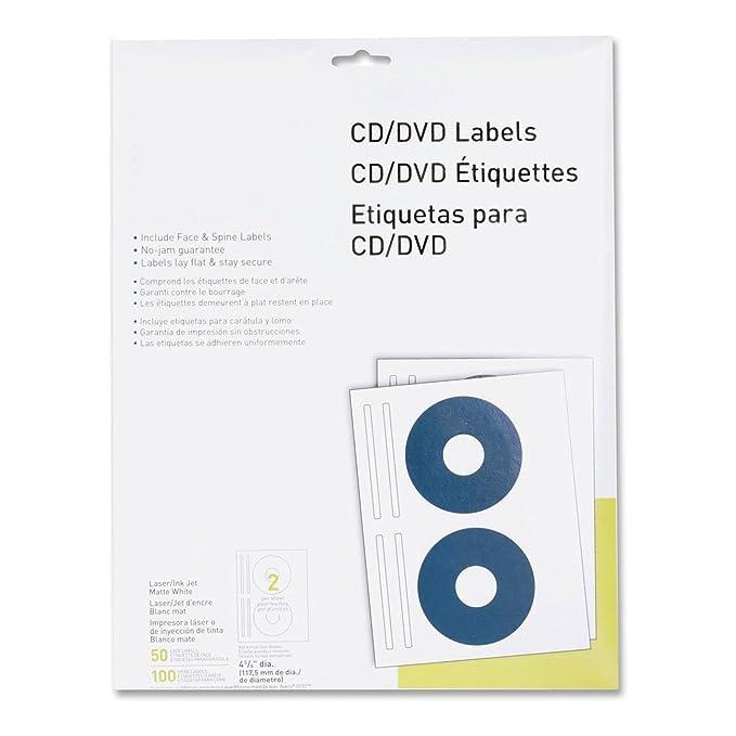 Amazon.com : MyOfficeInnovations 3254514 CD/DVD Labels Laser ...