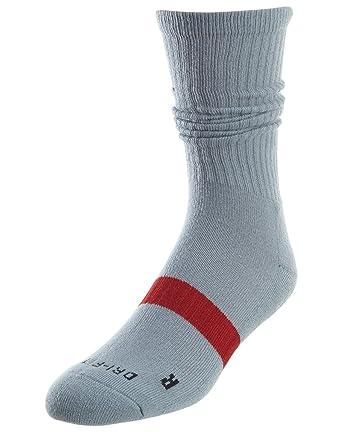 promo code 869dc c68c6 Jordan Men s Dri-FIT Crew Basketball Socks (3 Pack) Gym Red Wolf