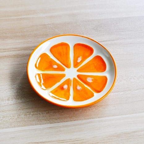 FICI Plato de Frutas Plato de arroz de cerámica Colorido tazón de Sopa de Ensalada para niños Conjunto de Postre tazón de vajilla Estilo sandía, Plato de Salsa D: Amazon.es: Hogar