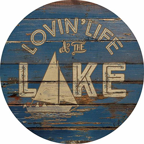 Lovin' Life at the Lake —Sailboat; - shabby chic wall art