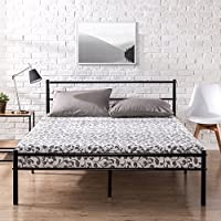 Zinus Metal Platform Bed Frame with Headboard and Footboard / Premium Steel Slat Support / Mattress Foundation, Full