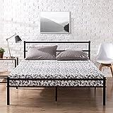 Zinus Metal Platform Bed Frame with Headboard and Footboard / Premium Steel Slat Support / Mattress Foundation, Queen