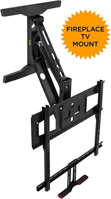 """XL Above Fireplace Pull Down Full Motion Vizio TV Wall Mount 60/"""" 70/"""" 75/"""" 80/"""" 85/"""""""