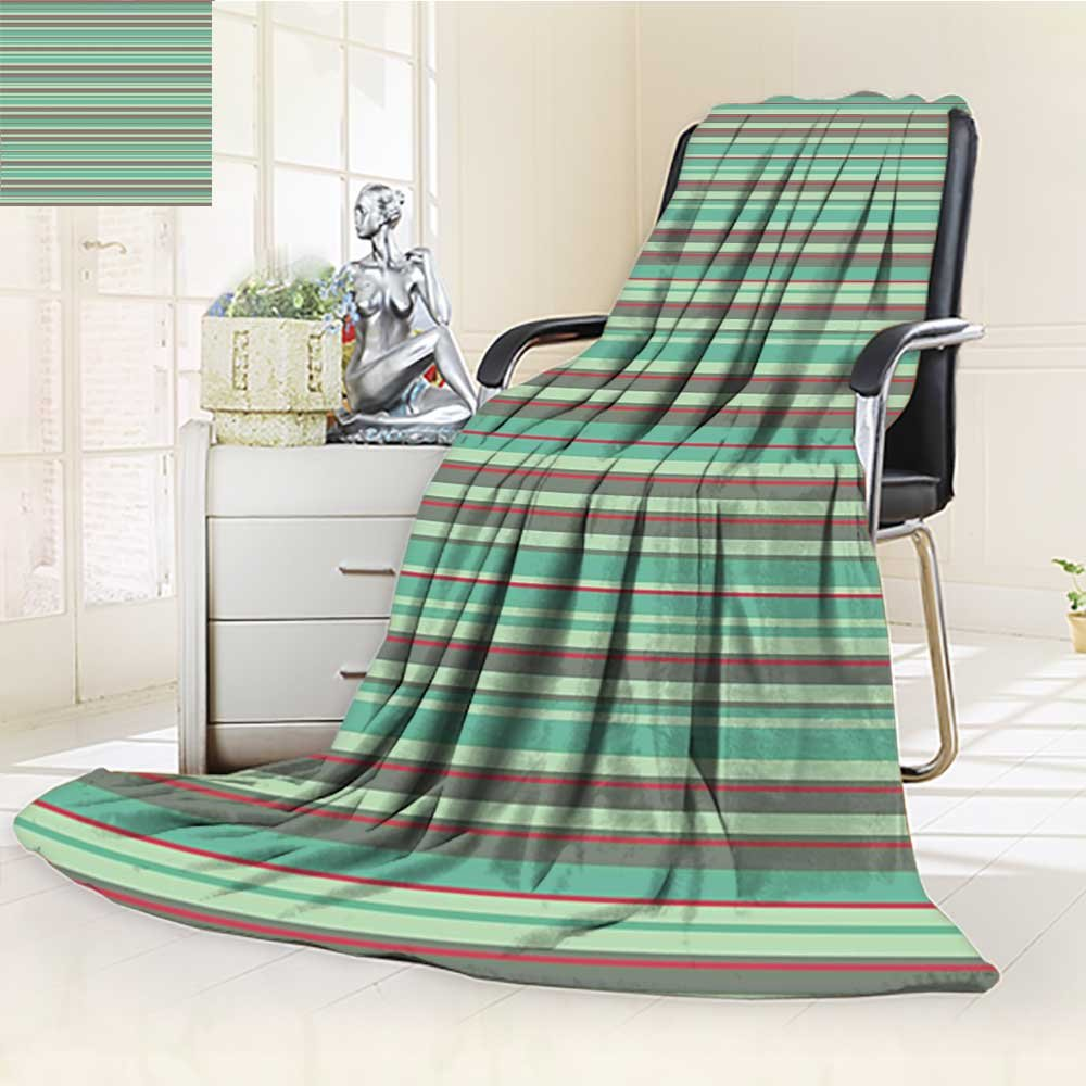 Throw Blanketレトロクラシック格子柄正方形ストライプタイルオレンジピーチ暖かいマイクロファイバーすべてシーズン毛布ベッドやソファ 59