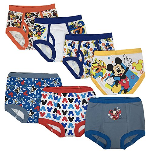 (Disney Mickey Mouse Boys Potty Training Pants Underwear Toddler 7-Pack Size 2T 3T 4T)