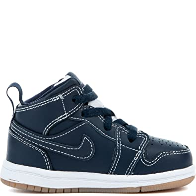 100% authentic 28fa8 46a96 Amazon.com   Jordan 1 Mid BT Obsidian/White Toddlers 9 ...