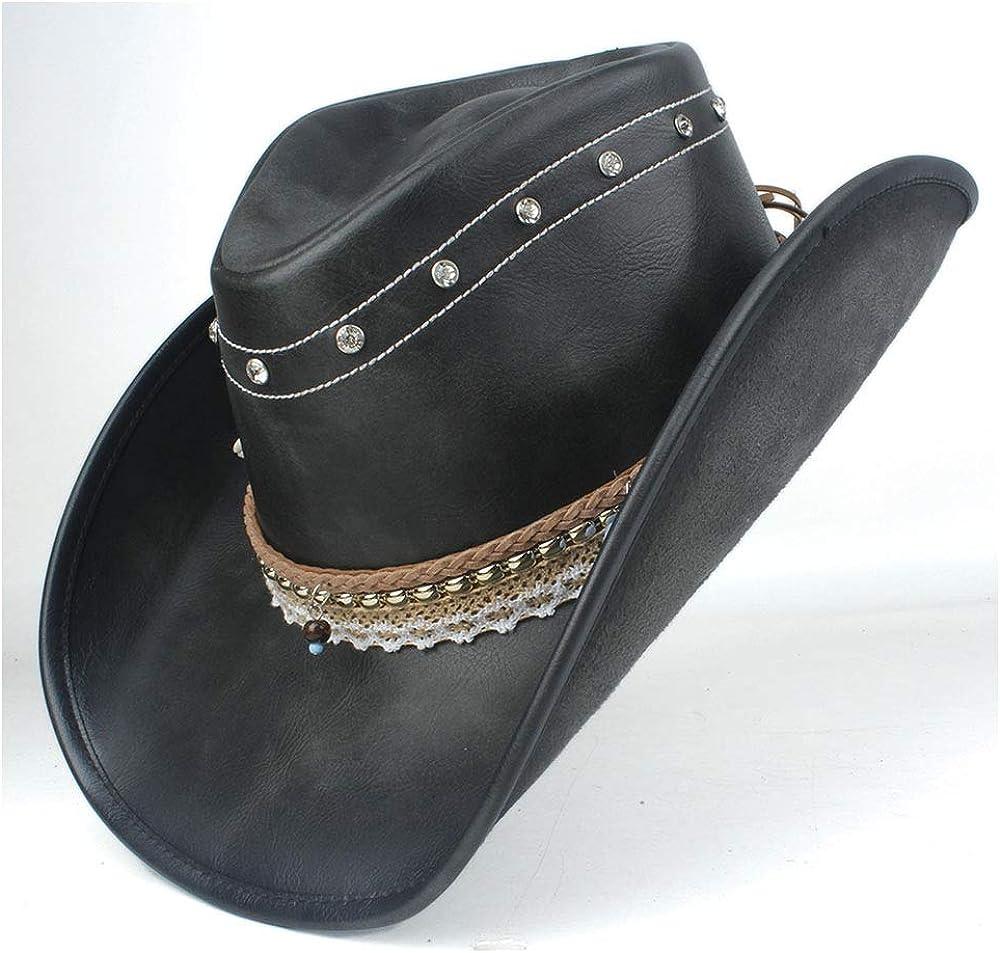 Women Retro Leather Western...
