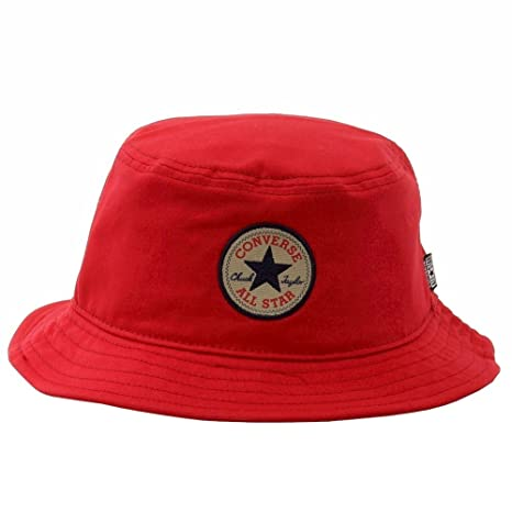 Amazon.com  Converse Men s Classic Bucket Hat Converse Red Hat ... 4ca69760316a