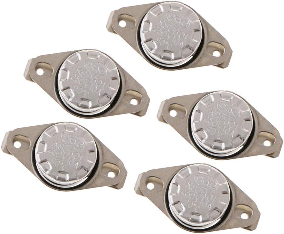 100 degr/és Almencla 5pcs N.O Interrupteur Thermique Normalement Ferm/é KSD301 De Temp/érature De Thermostat