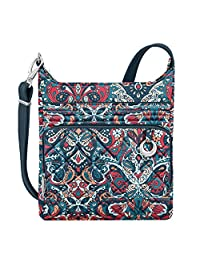 Travelon 33221 32X Anti-Theft Boho N/S Crossbody Bag, Summer Paisley, One Size