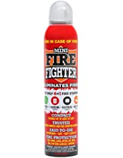Mini Firefighter MFF01 All Purpose Fire Extinguisher Classes A,B,C & K. Stops Kitchen Grease Oil Fats, Gasoline, Electric, Wood Fires For Home Safety Apartment Office Boat RV Camping 1-pack
