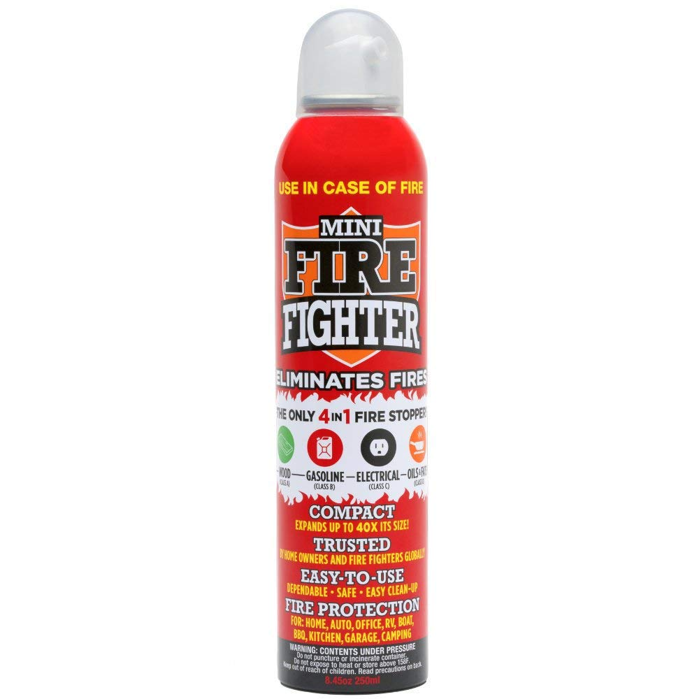 Mini Firefighter MFF01 Purpose Extinguisher Classes ABCK Gasoline, Kitchen Grease Oil and Fats, Electric and Wood Fires for Home Apartment Office Boat RV Camping, 1-Pack