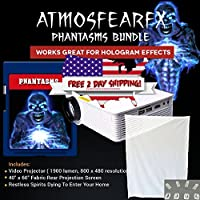 Atmostfearfx Phantasms SD Media Card Video Projector Bundle. 1900 Lumen Video Projector