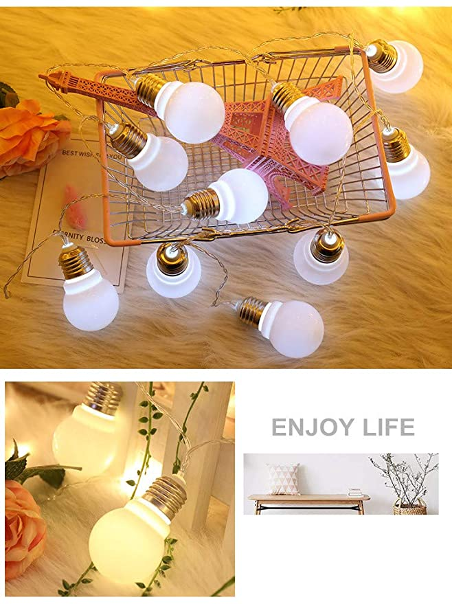 Amazon.com: Fange - Guirnalda de 20 luces LED con bola ...