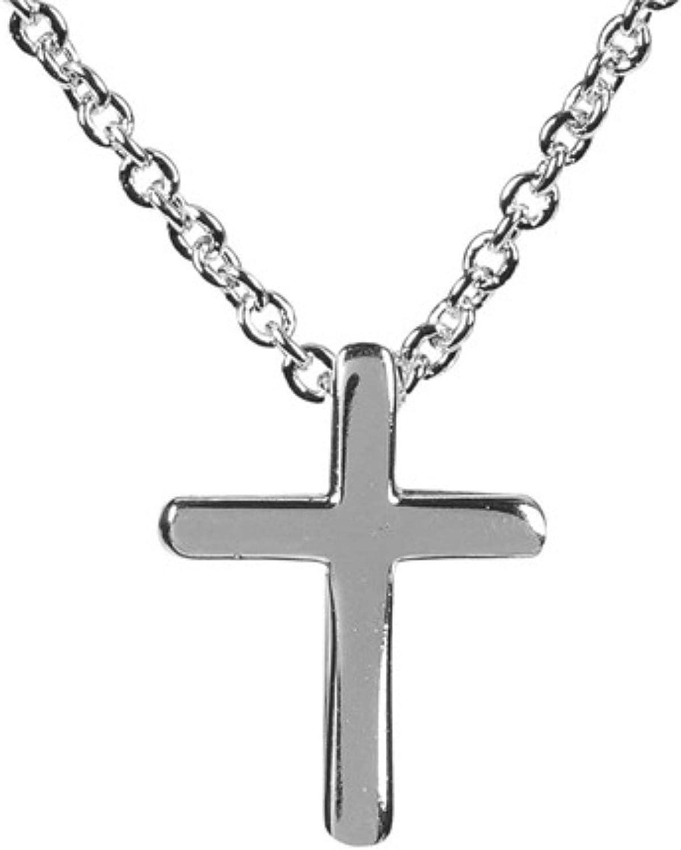 16 Silver Plated Mini Box Cross Necklace