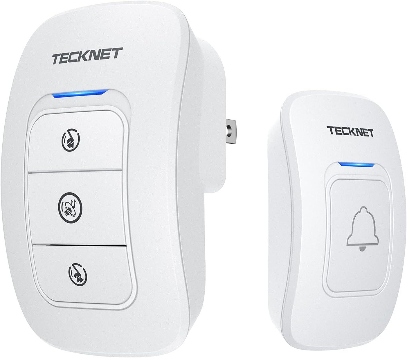 Smart Wireless Waterproof Doorbell Battery Doorbell 1 Remote Button 1 Receiver
