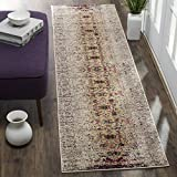 Safavieh Monaco Collection MNC209R Modern Abstract Ivory and Pink Distressed Runner Rug (2'2″ x 22′) Review
