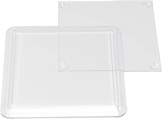 80mm insert extra depth for craft Twenty Five Acrylic Clear Round Coasters