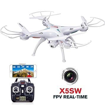 AUKWING RC Drone HD con Cámara, Syma X5SW Remote Control Airplane ...