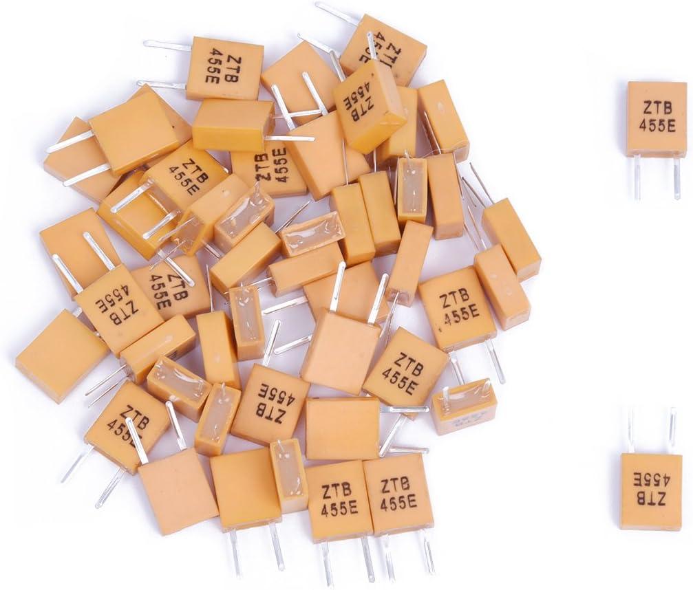 WOVELOT 50pcs 455 KHz Ceramic Resonator with 2 pins