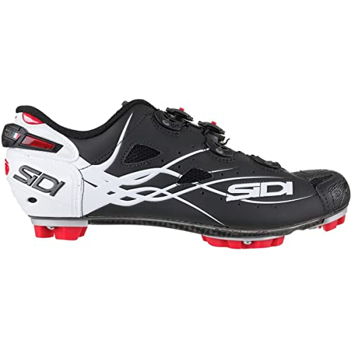 Zapatillas MTB Sidi Tiger Carbon Matt Negro-Gloss Blanco: Amazon.es: Zapatos y complementos