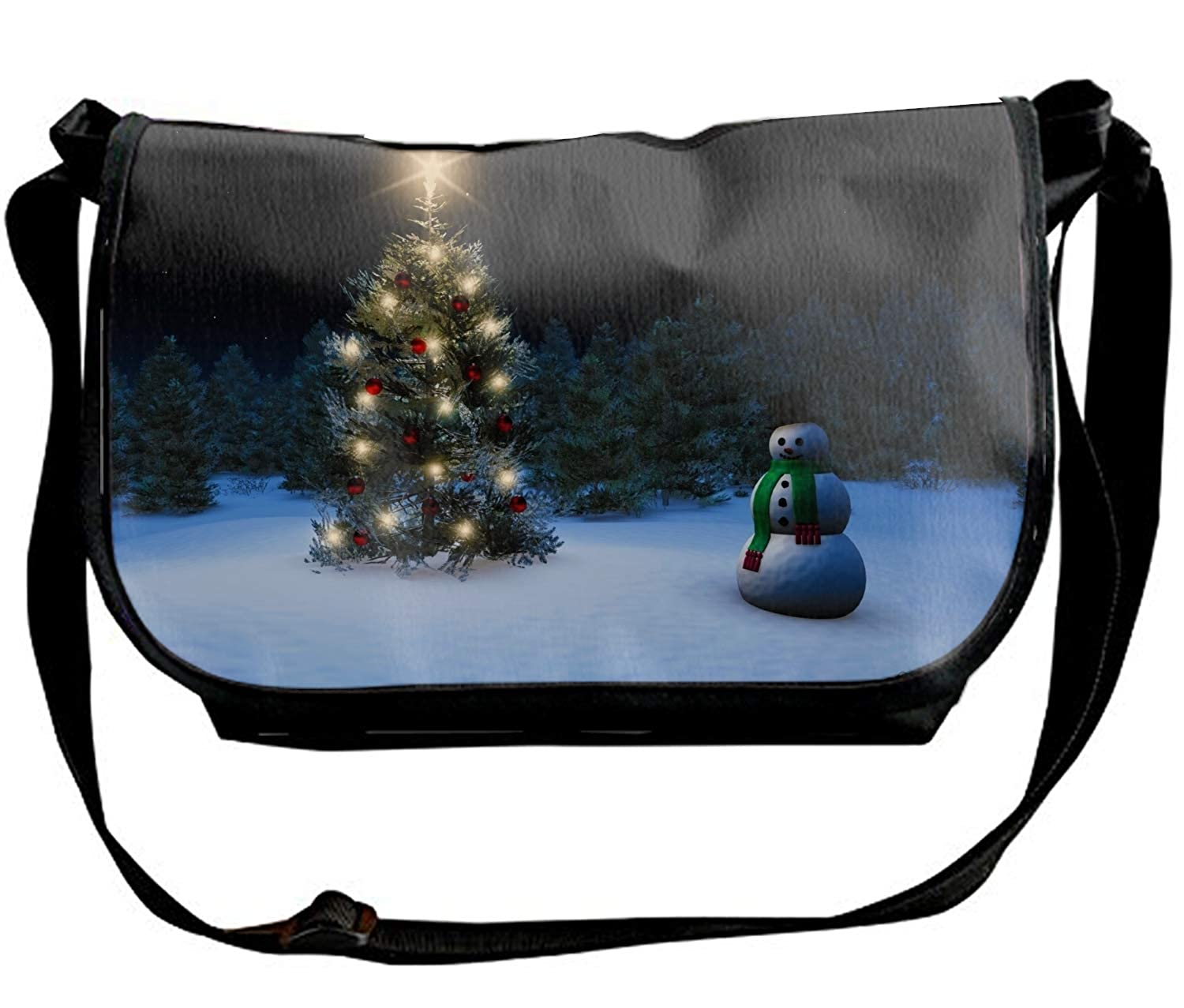 Custom Holiday Christmas Star Ornaments Single Shoulder Slant Sling Bag Crossbody Bag
