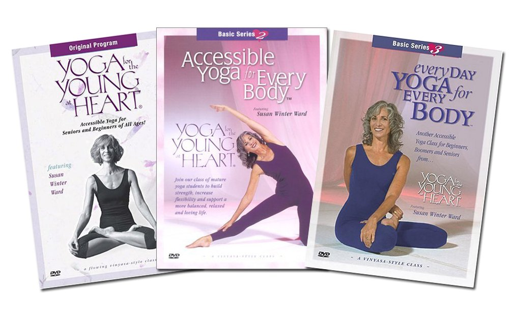 Amazon.com: Yoga for the Young At Heart (3 Seperate DVDs ...