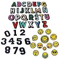 アルファベットA-Z Emoji 笑顔表情 数字 刺繍ワッペン アイロン接着 49枚セット アイロン ワッペン 刺繍 男の子 女の子 かわいい かっこいい 入園 入学 マーク 幼稚園 保育園 小学校 アップリケ ギフト イニシャル シンプル お名前 名入れ (全種類)の商品画像