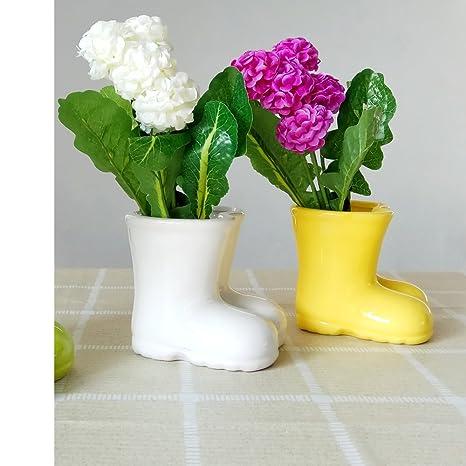 Amazon Better Way Boot Shaped Vase Ceramic Plant Pot Windowsill