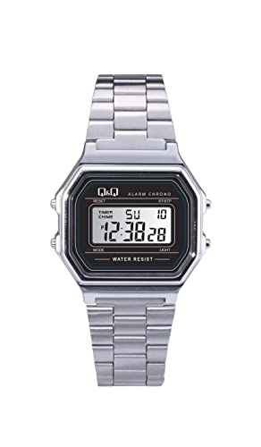 Q&Q Mens M173J001Y Digital Watch with Stainless ...