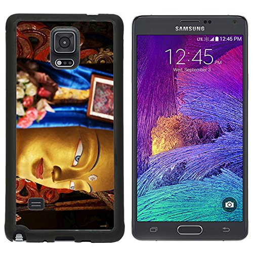 MSD Premium Samsung Galaxy Note 4 Note4 Aluminum Backplate Bumper Snap Case close up colorful sculpture of Maitreya buddha at Thiksey Monastery Tibetan Buddhist IMAGE 35005980
