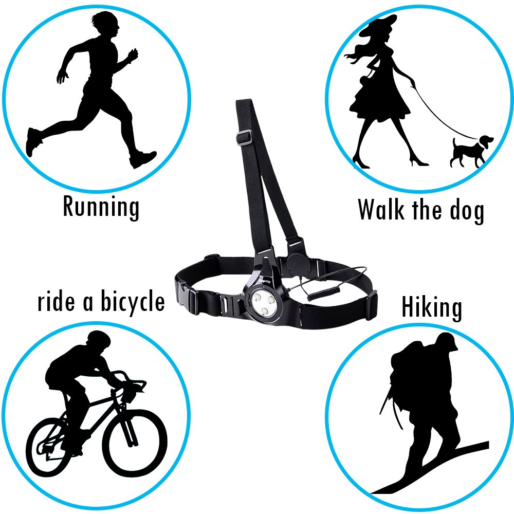 Amazon suptig outdoor sports photographychest light night amazon suptig outdoor sports photographychest light night running warning lights led runing light connected use for gopro hero6544s332 xiaoyi biocorpaavc