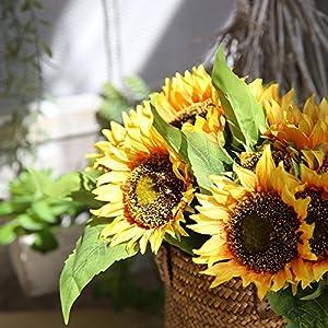 silk sunflower flowers