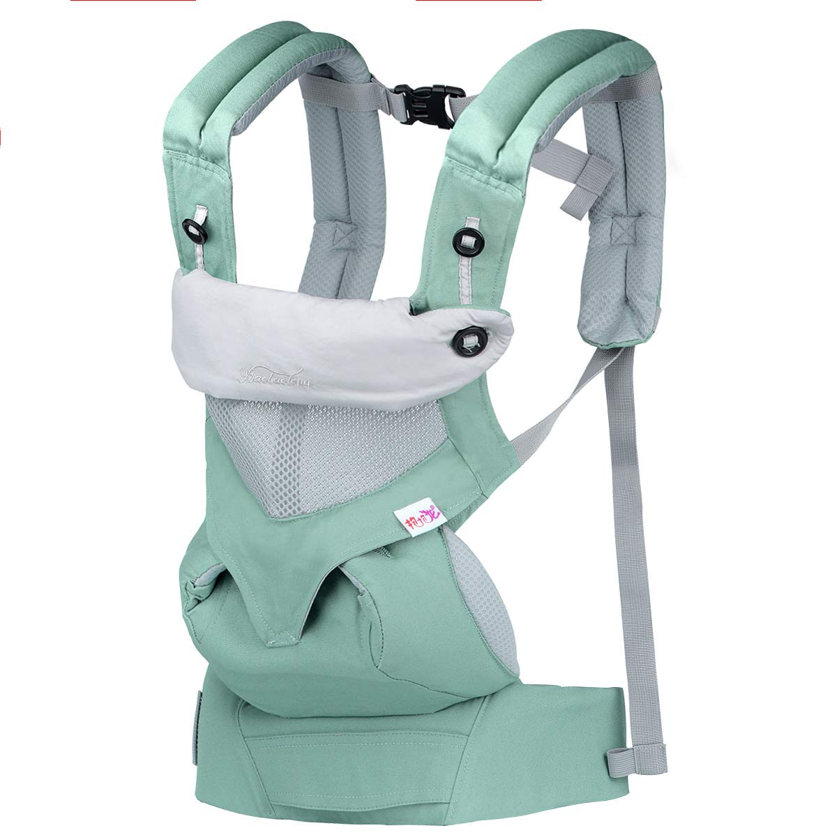 Upgrow Baby Carrier Slings Safety Baby Front Back Carrier Infant Backpack Wrap Harness with Hood for Newborn Infants Toddlers (Pink)