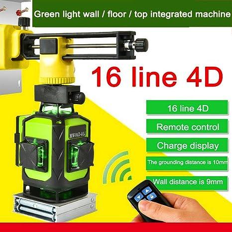 Mise /à niveau laser crois/ée 4X360 faisceau laser /à quatre plans ligne horizontale 2x360 /°,haute pr/écision 16 lignes faisceau vert 2x360 /° mise /à niveau automatique t/él/écommande 4D