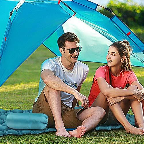 Tencoz Sleeping Pad, Inflatable Sleep Mat Ultralight Folding Compact Sleeping Mat with 1 Eye Mask for Camping Travel Outdoor Hiking Backpacking Hammock Tent Beach
