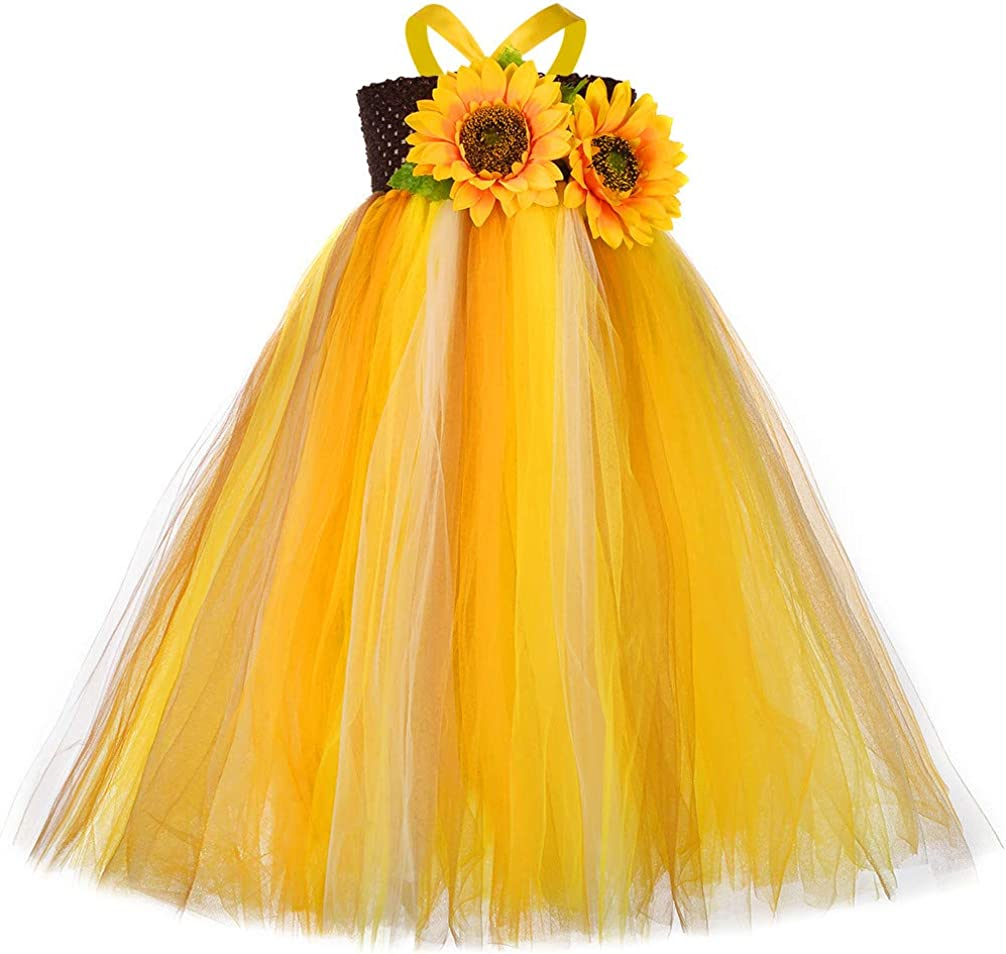 Tutu Dreams Sunflower Tutu Dress for Girls 1-12Y Thanksgiving Day Easter Holiday Halloween