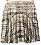 Royal Robbins Women's Essential Tencel Skirt, Light Taupe Print, Medium