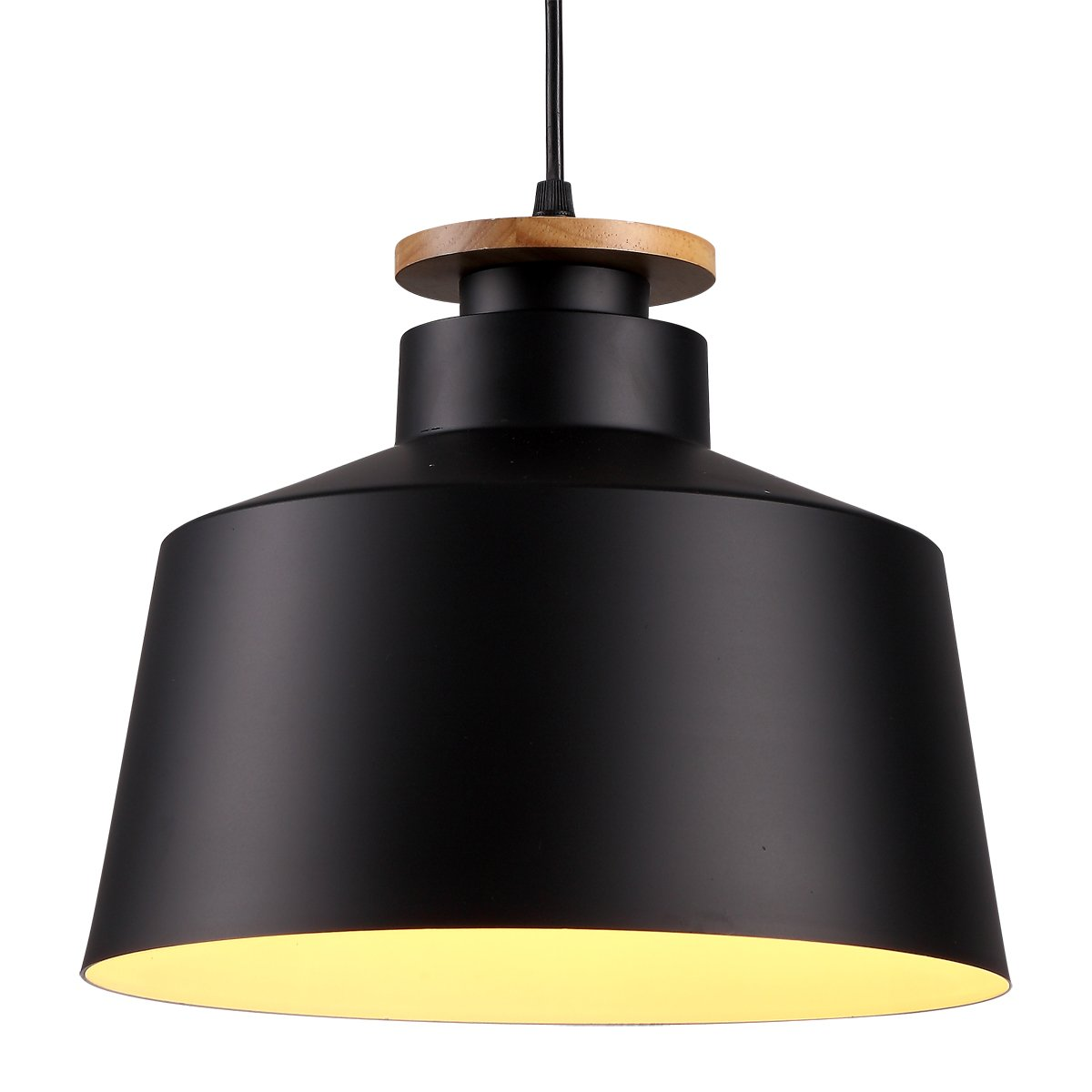 Homiforce vintage style 1 light large black dome pendant light with metal shade in matte black finish modern industrial edison style hangingclose to