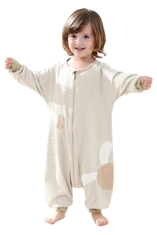 poliking Unisex algodón orgánico de verano para bebé con cremallera pijama Mono pijama bebé nightgowns: Amazon.es: Deportes y aire libre