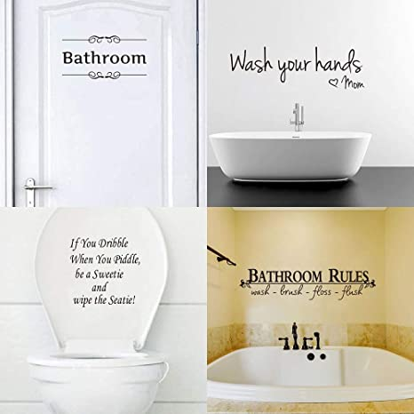 Funny Door Sticker Home Decorations Accessories Decal Toilet Sticker Bathroom