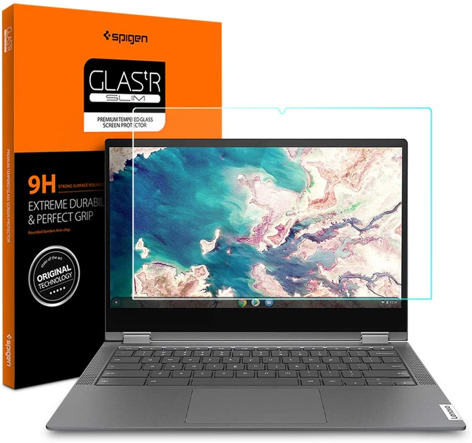 Spigen Tempered Glass Screen Protector Designed for Lenovo Chromebook Flex 5 (13 inch / 82B80006UX) [9H Hardness]