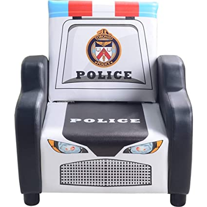 Amazon Com Kids Sofa Chair Police Car Upholstered Chair Small Couch