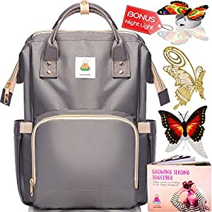 Diaper Bag Backpack - Baby Bags for Mom, Girls & Boys | BEST 2018 Women Organizer for Boy & Girl with Bookbag