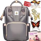 Diaper Bag Backpack - Baby Bags for Mom, Girls & Boys | BEST 2018 Women Organizer for Boy & Girl with Bookbag