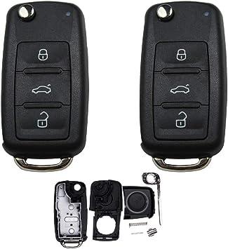 Konikon 2x Autoschlüssel Gehäuse Kompatibel Für Vw Elektronik