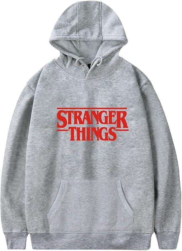 Imagen deEmilyle Stranger Things - Sudadera con capucha y letra roja de Demogorgon Days Nostalgia para niñas y mujeres